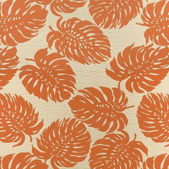 A8035 Tangerine, Orange Tropical Upholstery by Gre