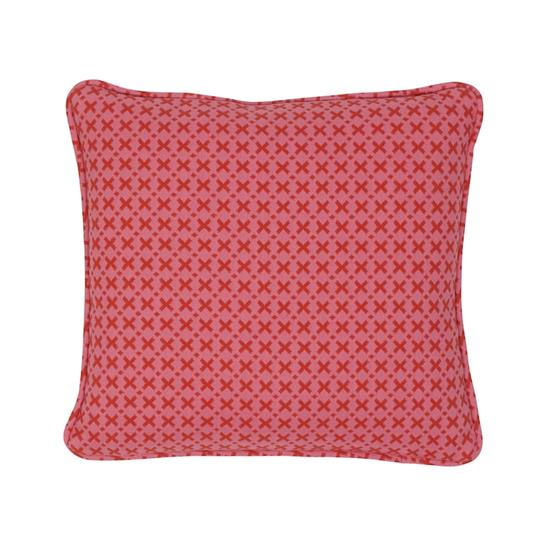 """So7720102 Elias 14"""" Pillow Pink and Red By Schumacher Furniture and Accessories 1"""
