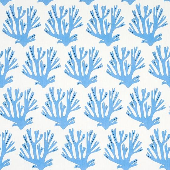 179100 Coral Blue by Schumacher Fabric