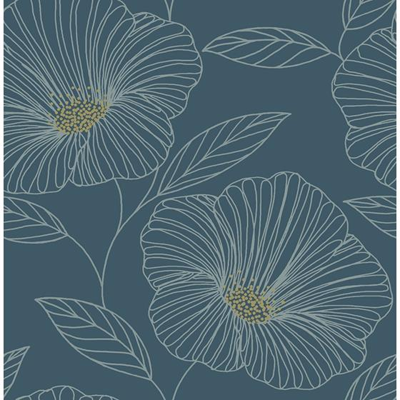 2764-24318 Mythic Blue Floral Mistral by A-Street Prints