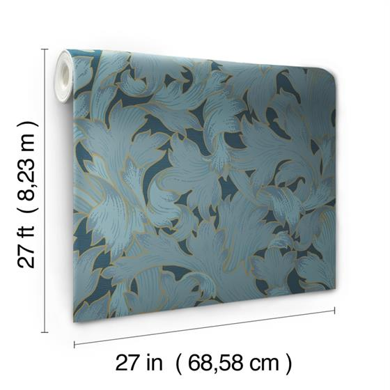 NV5512 Modern Heritage 125th Anniversary Acanthus Toss by York Wallpaper