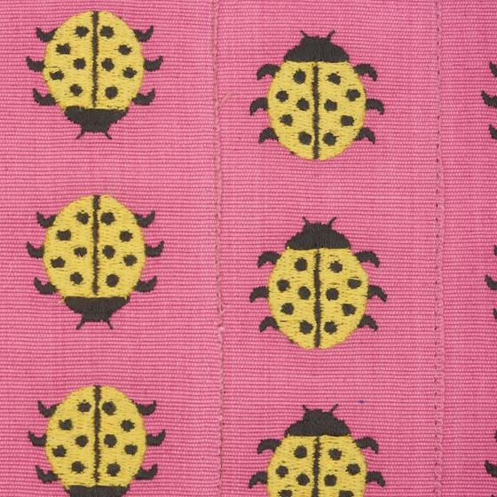 So7739110 Ladybird Pillow Yellow and Pink By Schumacher Furniture and Accessories 3