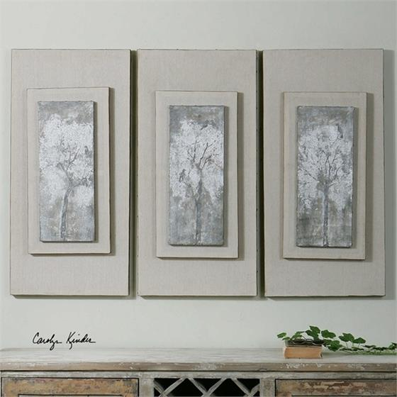 41426 Triptych Trees S/3 by Uttermost
