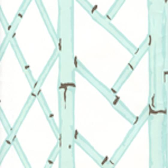 6020w 03 Lyford Trellis Aqua Brown On White Quadrille Wallpaperadditional Colors Below