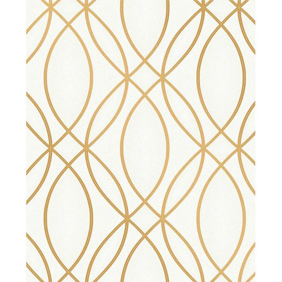 2834-42341 Advantage Metallic Lisandro Gold Geometric Lattice by Advantage Wallpaper