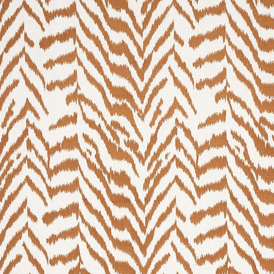 80671 Quincy Embroidery On Linen Toast By Schumacher Fabric 1