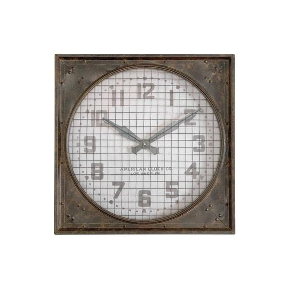 06083 Warehouse Clock w/ Grill by Uttermost-3
