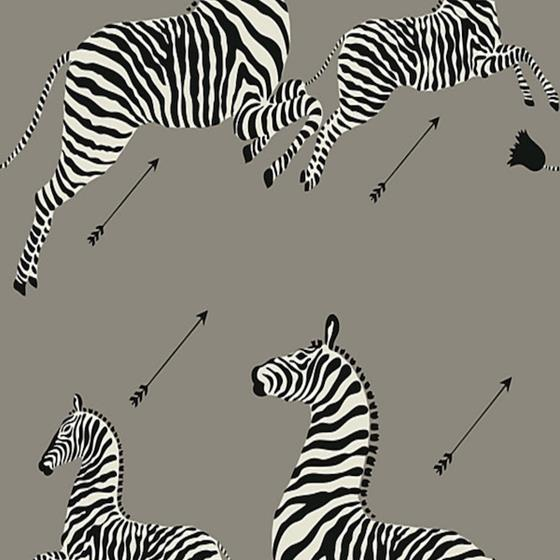 SC 0013WP81388PS Zebras Grey By Scalamandre Wallpaper