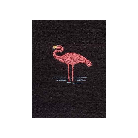115753 Pink Flamingo Black by Robert Allen