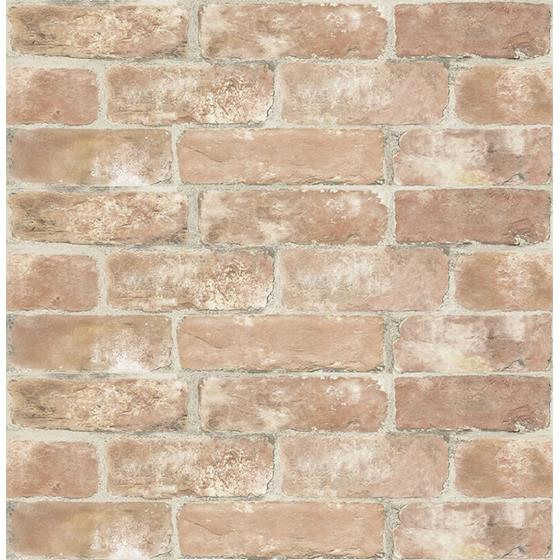NHS3203 Old Town Brick Brick Wood & Stone Peel and Stick Wallpaper