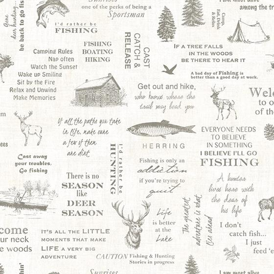 3118-01473 Birch and Sparrow North Hills Camping Quotes by Chesapeake Wallpaper