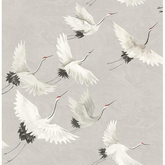 2764-24304 Windsong Grey Crane Mistral by A-Street Prints