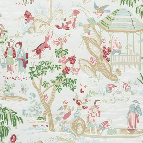 5009091 Yangtze River Aqua by Schumacher Wallpaper