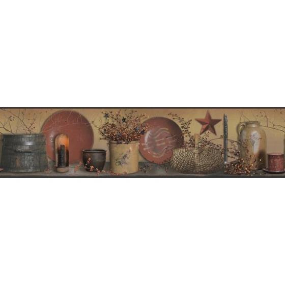 AC4373BD Country Keepsakes by York Wallpaper