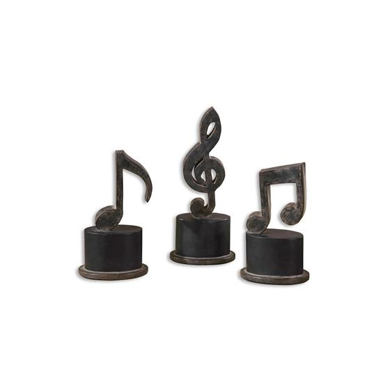 19280 Music Notes S/3 by Uttermost-3
