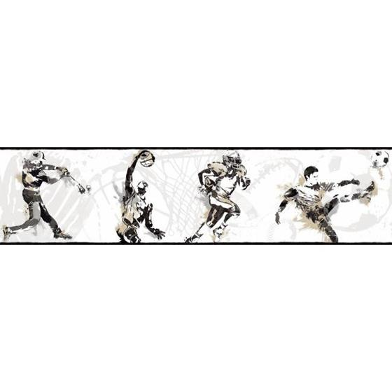 BS5304BD Sports Players Border by York Wallcoverings