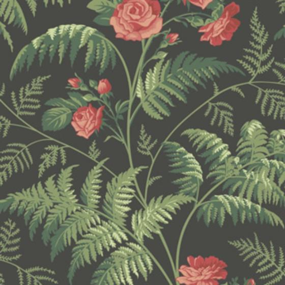 115-10030 Rose, Red L Green Charcoal Print by Cole