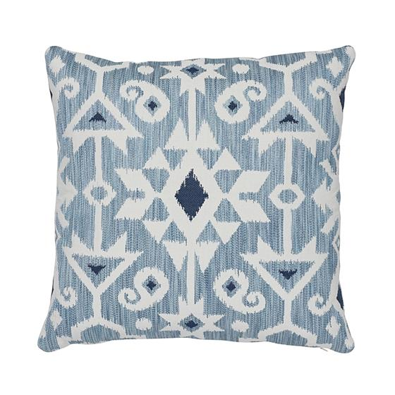 """So7652105 Crusoe Ikat 20"""" Pillow Sky By Schumacher Furniture and Accessories 1"""