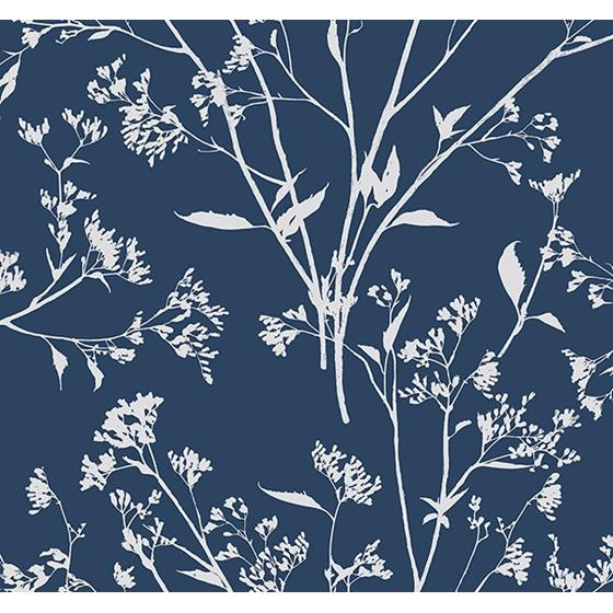 2927-80712 Newport Southport Navy Delicate Branches by A-Street Prints Wallpaper