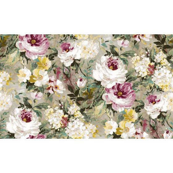 2835-SY5111P Deluxe Macau Magenta Painterly Floral by Advantage Wallpaper