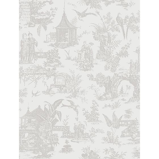 2686-21768 Kitchen Bed Bath IV Grey Chinoiserie Brewster