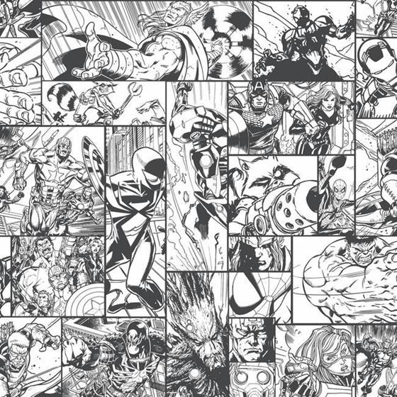 DY0270 Marvel Comic Book by York Wallcoverings