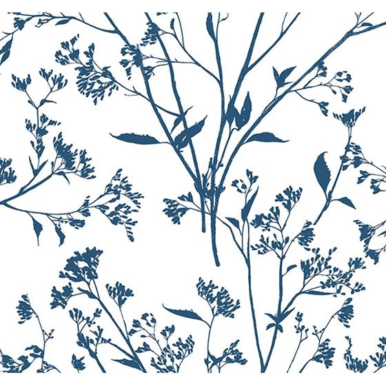 2927-80702 Newport Southport Indigo Delicate Branches by A-Street Prints Wallpaper