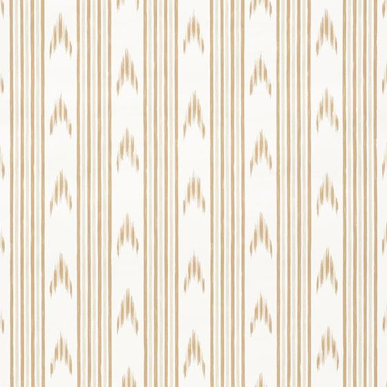 5009222 Santa Barbara Ikat Neutral by Schumacher Wallpaper