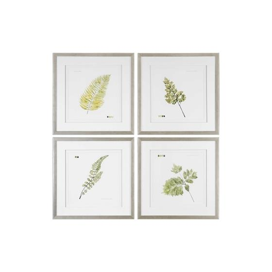 33666 Watercolor Leaf Study S/4 by Uttermost-3