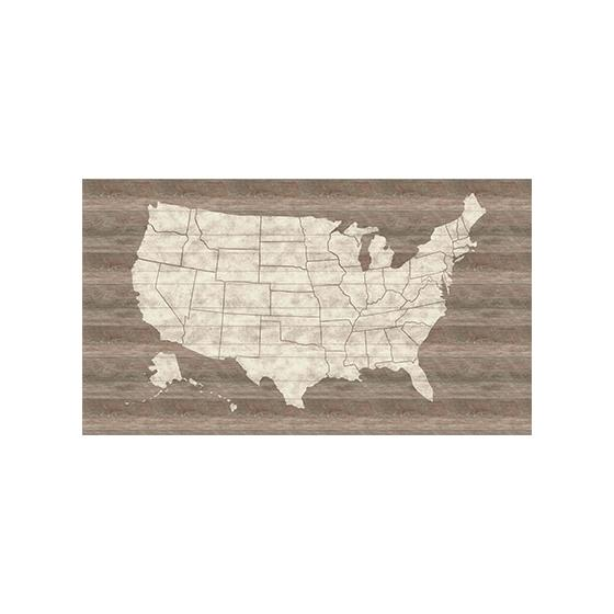 LG1406M | Rustic Living, United States Map Mural color ...