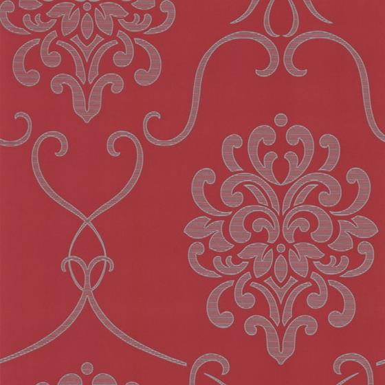 Decorline - Accents Red Damask Wallpaper