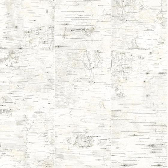 3118-12643 Birch and Sparrow Champlain Grid Wood by Chesapeake Wallpaper