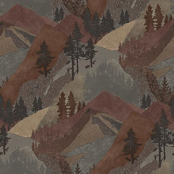 3118-12634 Birch and Sparrow Range Mountains by Chesapeake Wallpaper