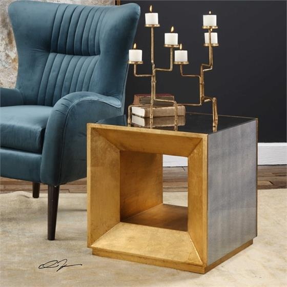 24763 Flair Cube Table by Uttermost