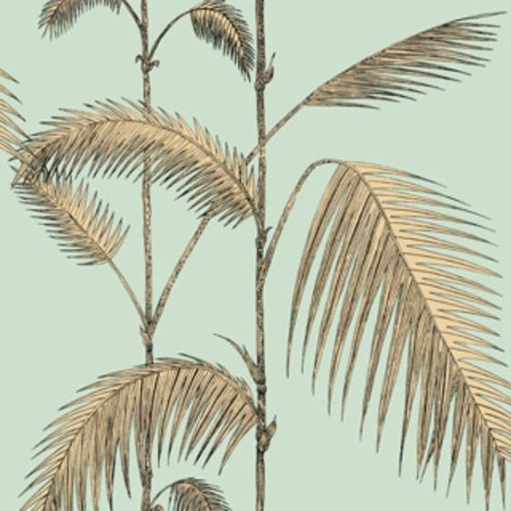 112/2006 Palm Leaves Mint/Yellow Cole and Son