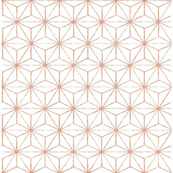 2764-24313 Orion Coral Geometric Mistral by A-Street Prints