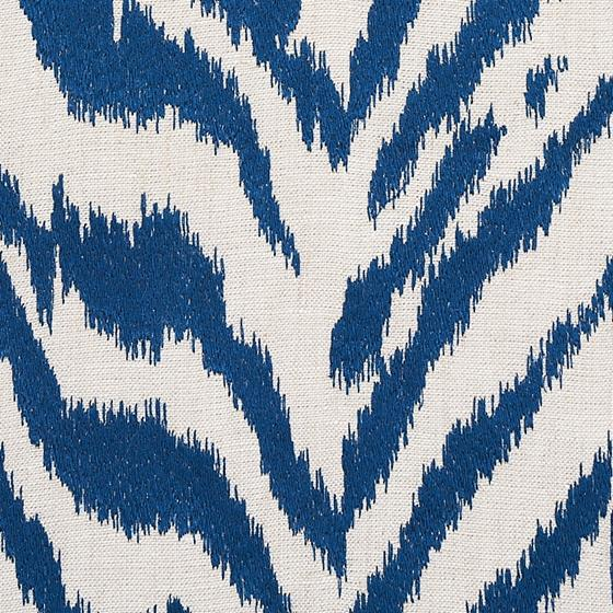 80672 Quincy Embroidery On Linen Navy By Schumacher Fabric 3