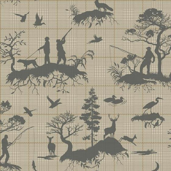HO3326 Outdoorsmen Toile, Tailored by York Wallpap