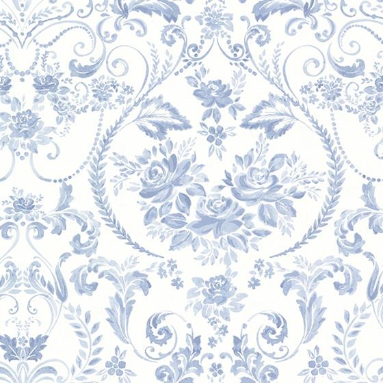 2686-22031 Kitchen Bed Bath IV Blue Damasks Brewster