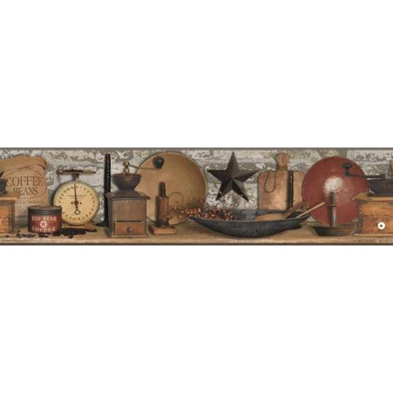 AC4396BD Country Keepsakes by York Wallpaper