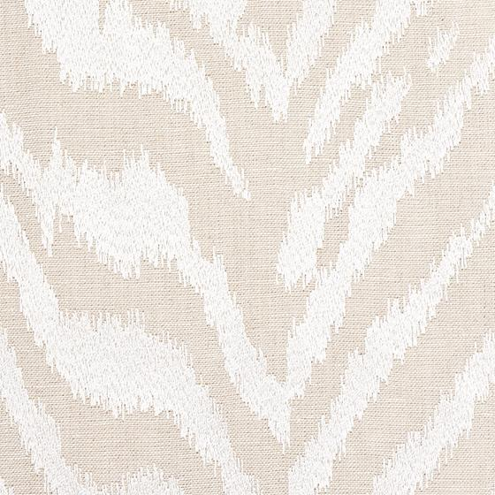 80670 Quincy Embroidery On Linen White By Schumacher Fabric 3