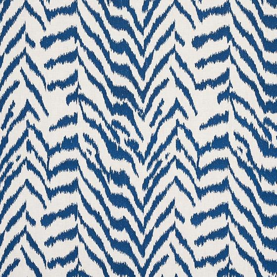 80672 Quincy Embroidery On Linen Navy By Schumacher Fabric 1