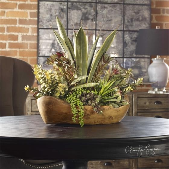 60119 Salar Succulents by Uttermost