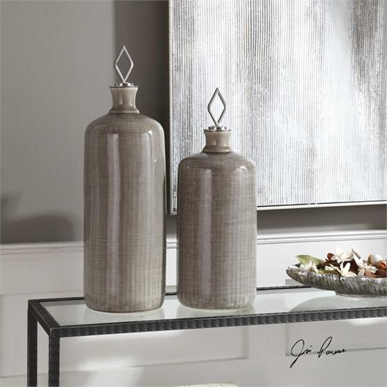 18936 Dhara Bottles S/2 by Uttermost