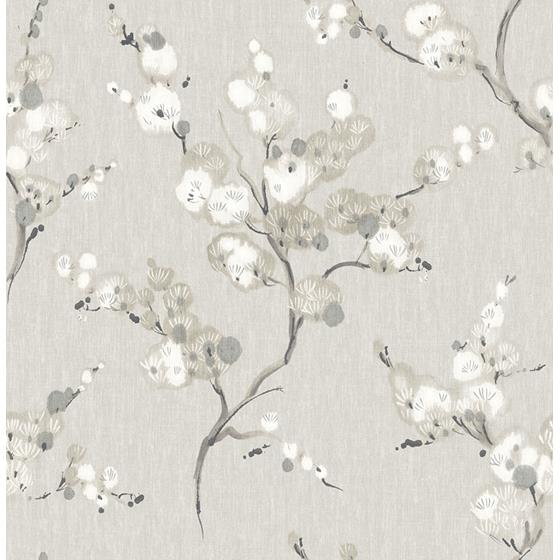 2764-24306 Bliss Taupe Blossom Mistral by A-Street Prints