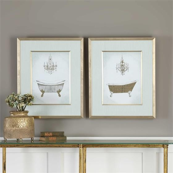 33677 Gilded Bath S/2 by Uttermost