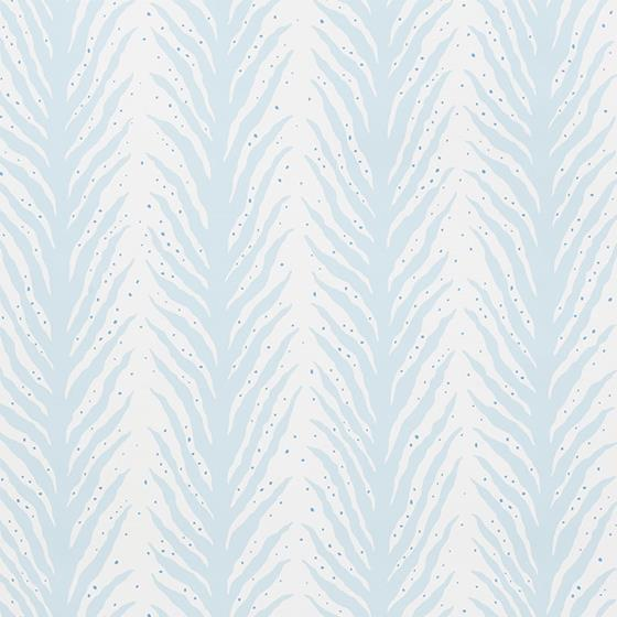 5009451 Creeping Fern Slumber Blue by Schumacher Wallpaper