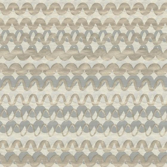 32105.11.0 Ripple Effect Silver Blue Grey Upholstery Contemporary Fabric by Kravet Couture
