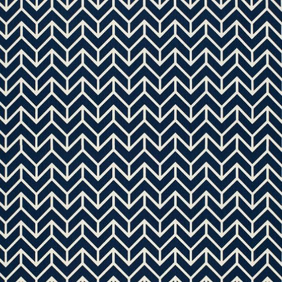 2644031 Chevron Print Navy by Schumacher 1