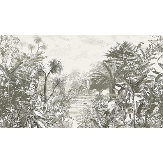 300611 Skin Into the Wild Grey Wall Mural by Eijffinger Wallpaper